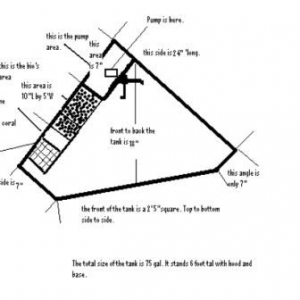 Drawing of the tank