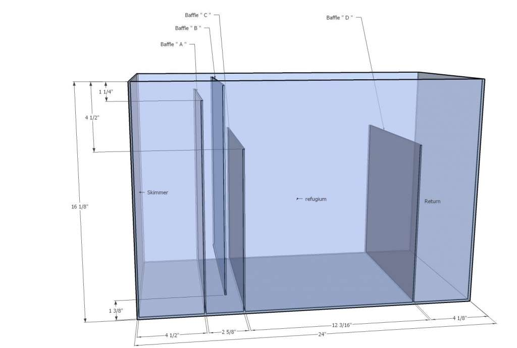 20 gallon sump diagram reef sanctuary for 20 gallon fish tank dimensions