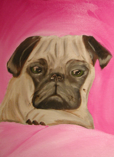 Daisey - Commissioned Dog Portrait